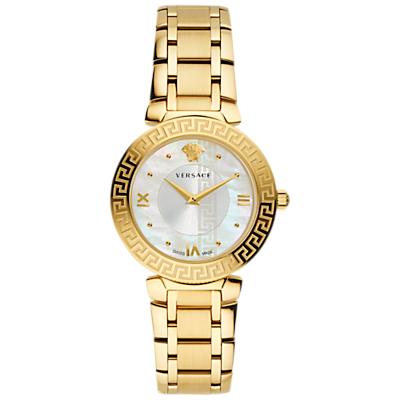 Versace V16070017 Women's Daphnis Mother of Pearl Bracelet Strap Watch, Gold/White