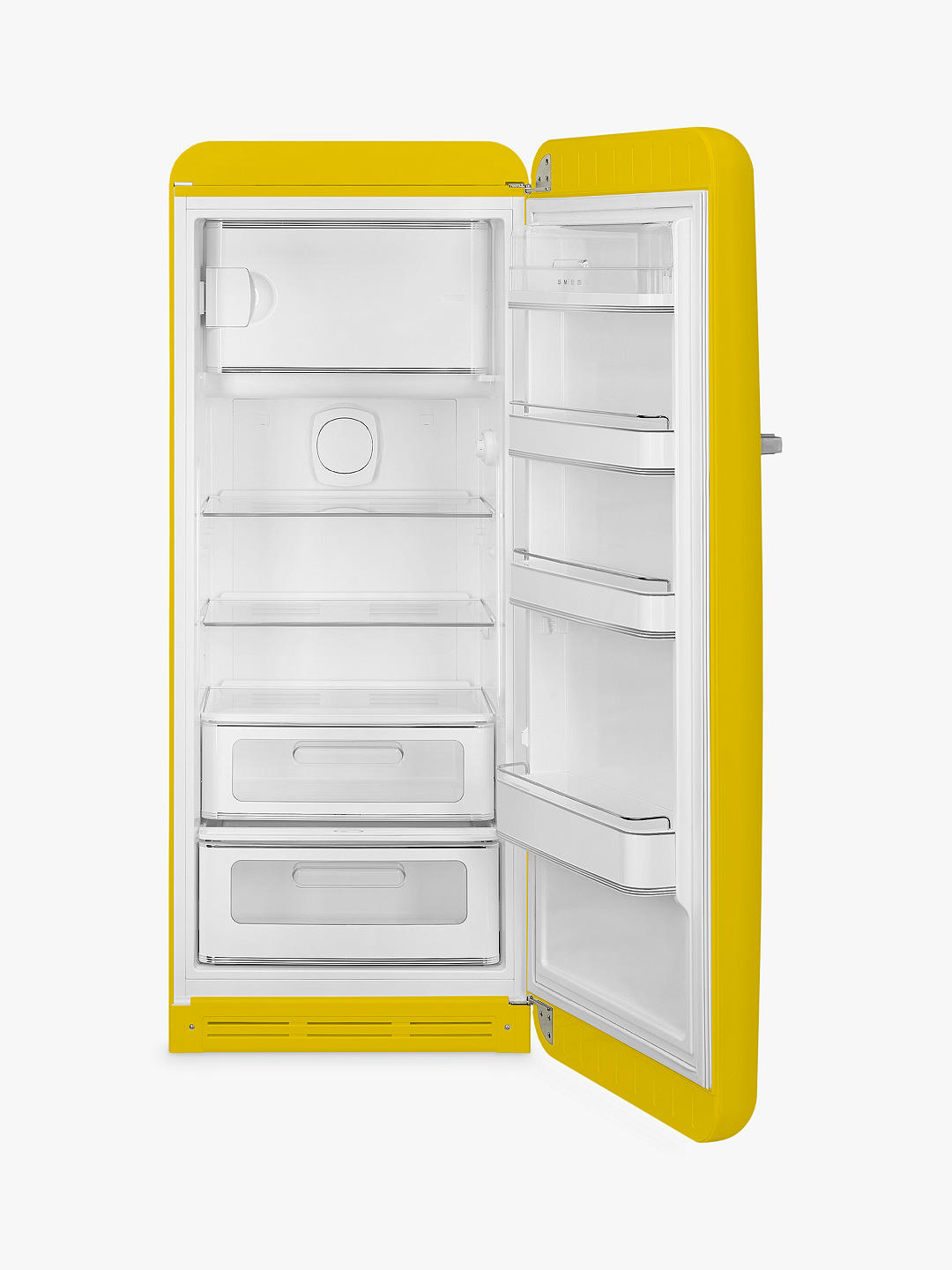 Buy Smeg FAB28RYW3UK Freestanding Fridge with Freezer Compartment, A+++ Energy Rating, 60cm Wide, Right-Hand Hinge, Yellow Online at johnlewis.com