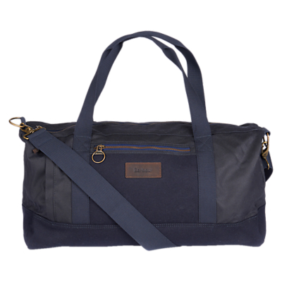 Barbour Gisburn Waxed Cotton Holdall, Navy