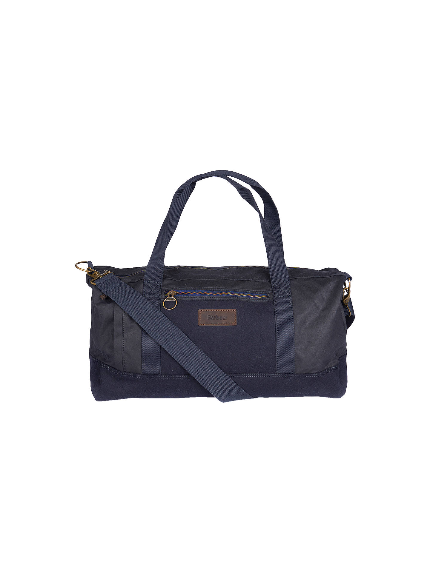 Buy Barbour Gisburn Waxed Cotton Holdall, Navy Online at johnlewis.com