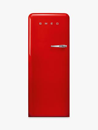 Smeg FAB28L Freestanding Fridge with Freezer Compartment, A+++ Energy Rating, 60cm Wide, Left-Hand Hinge