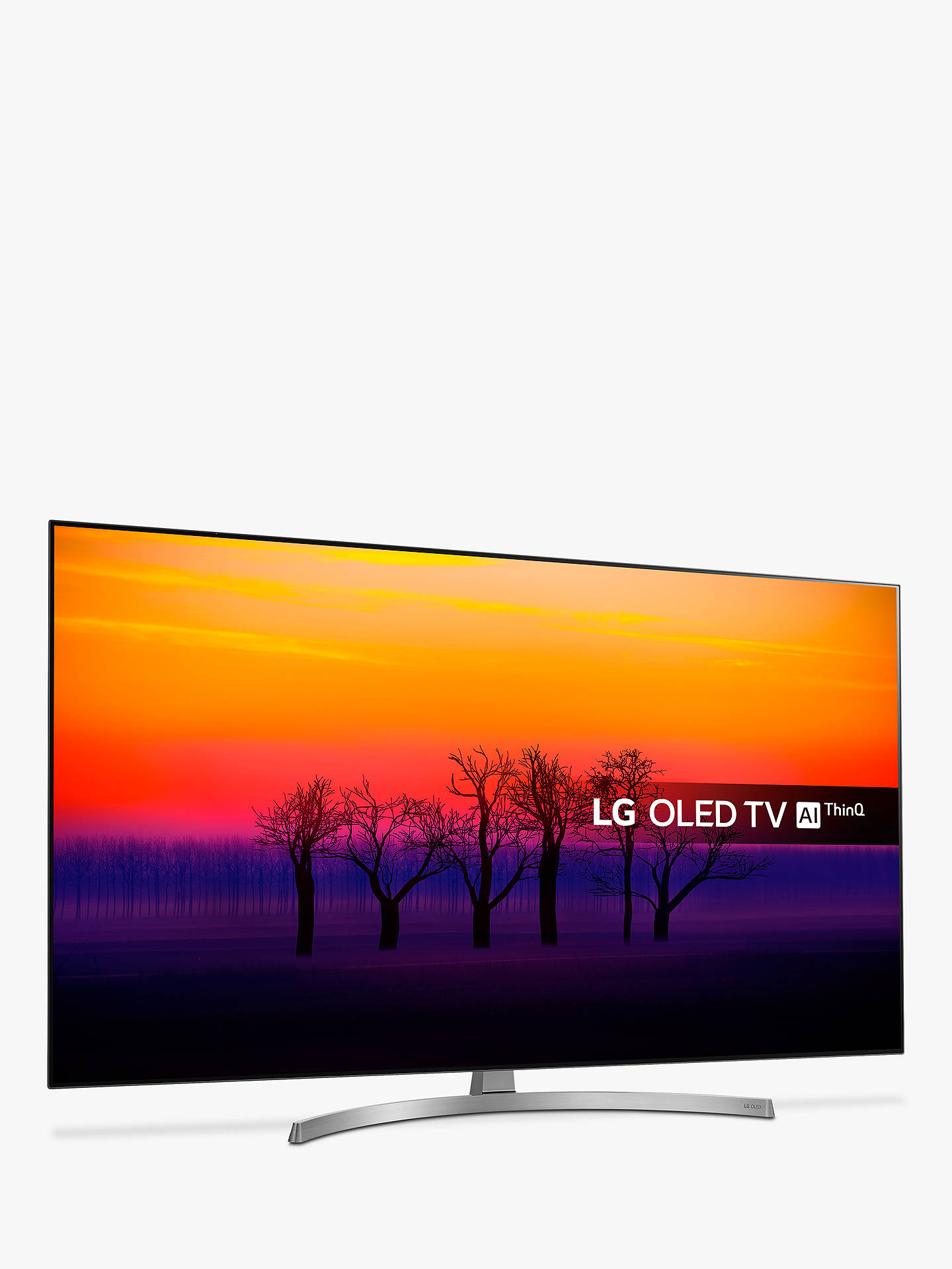 "Buy LG OLED55B8SLC OLED HDR 4K Ultra HD Smart TV, 55"" with Freeview Play/Freesat HD, Dolby Atmos, Picture-On-Metal Design & Crescent Stand, Ultra HD Certified, Black & Silver Online at johnlewis.com"