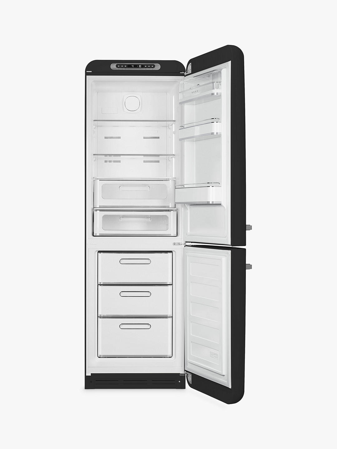 Buy Smeg FAB32R Freestanding 60/40 Fridge-Freezer, A+++ Energy Rating, Right-Hand Hinge, 60cm Wide, Black Online at johnlewis.com