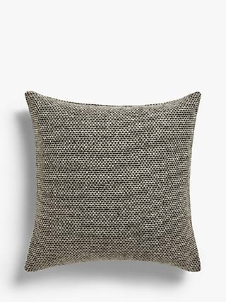 Croft Collection Mini Weave Cushion, Blue / Grey