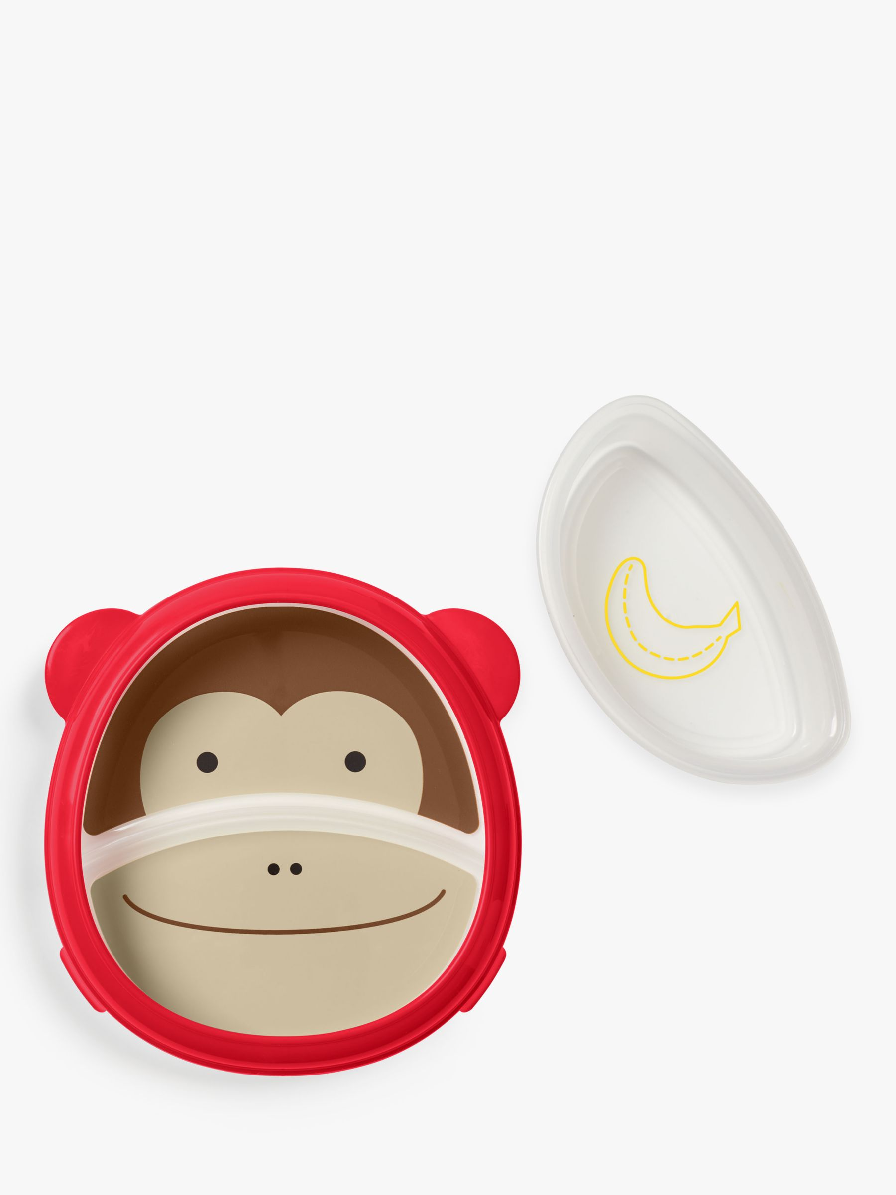 Skip Hop Baby Eat Neat Monkey Plate and Bowl Set