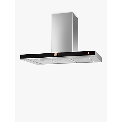 De Dietrich DHB7952X Chimney Cooker Hood, Platinum Silver / Black