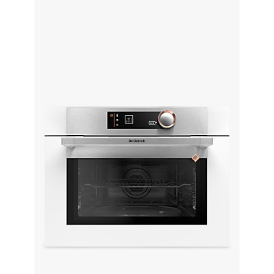 De Dietrich DKC7340W Compact Built-In Microwave Oven with Grill, White