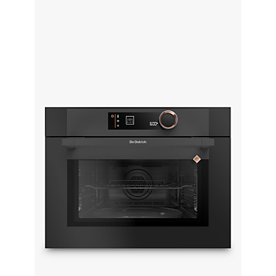 De Dietrich DKC7340A Compact Built-In Microwave Oven with Grill, Black