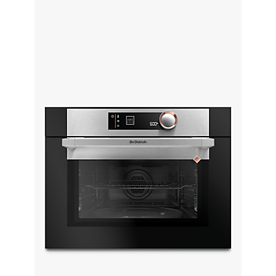 De Dietrich DKC7340X Compact Built-In Microwave Oven with Grill, Platinum Silver