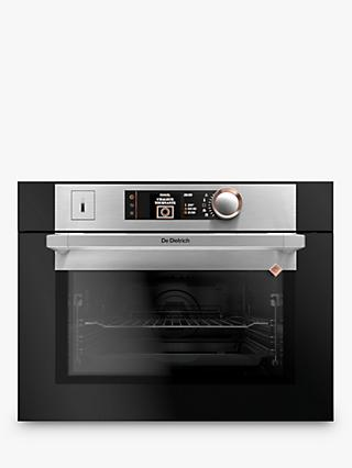 De Dietrich DKR758 Built-In Pyrolytic Single Steam Oven, Platinum Silver/ Black