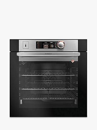 De Dietrich DOS7585X Built-In Pyrolytic Single Oven, Platinum Silver / Black
