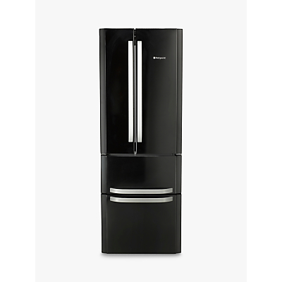 Hotpoint FFU4D.1 K American Style Freestanding Fridge Freezer, A+ Energy Rating, 70cm Wide, Black
