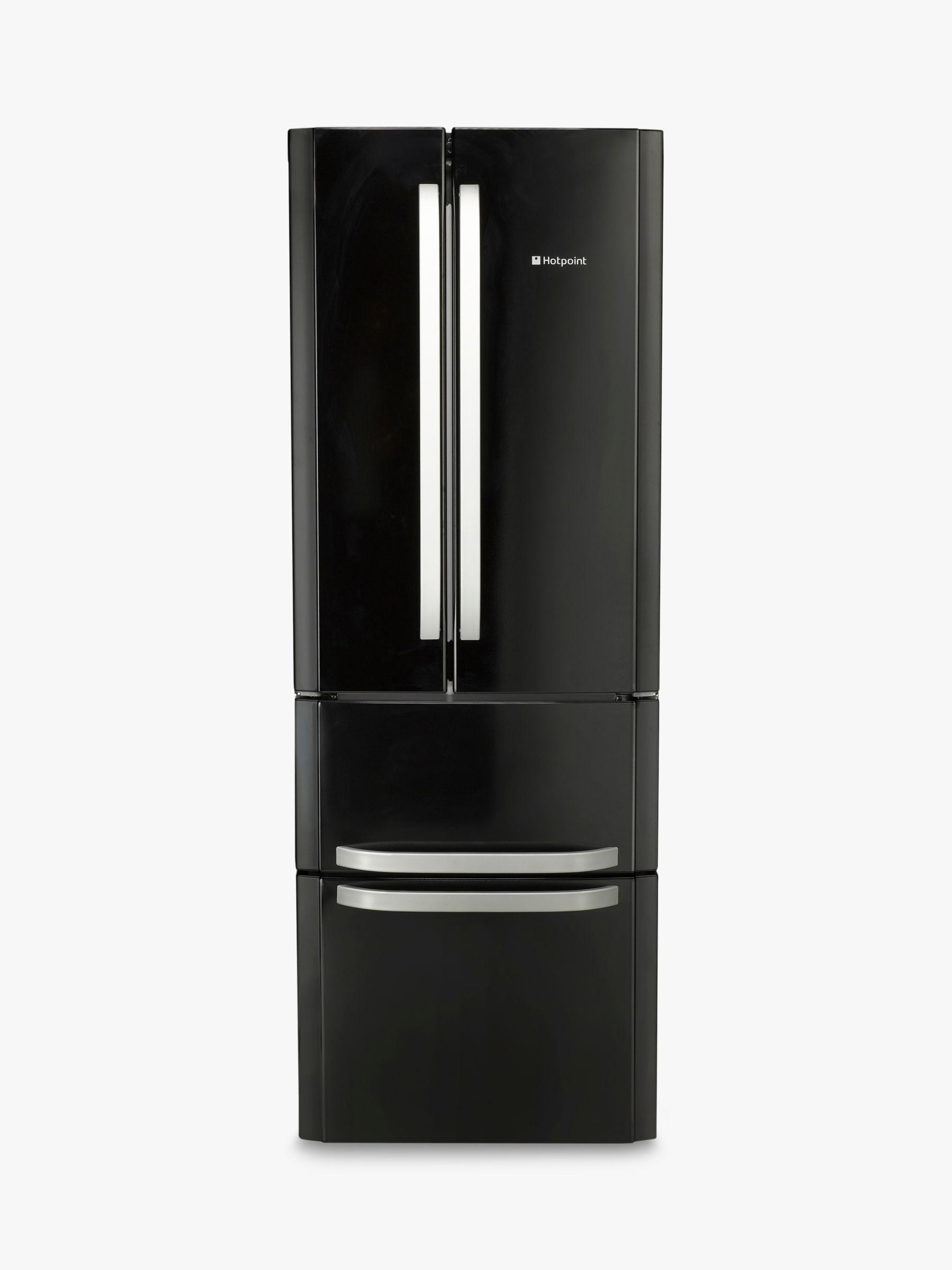 Hotpoint Hotpoint FFU4D.1 K American Style Freestanding Fridge Freezer, A+ Energy Rating, 70cm Wide, Black