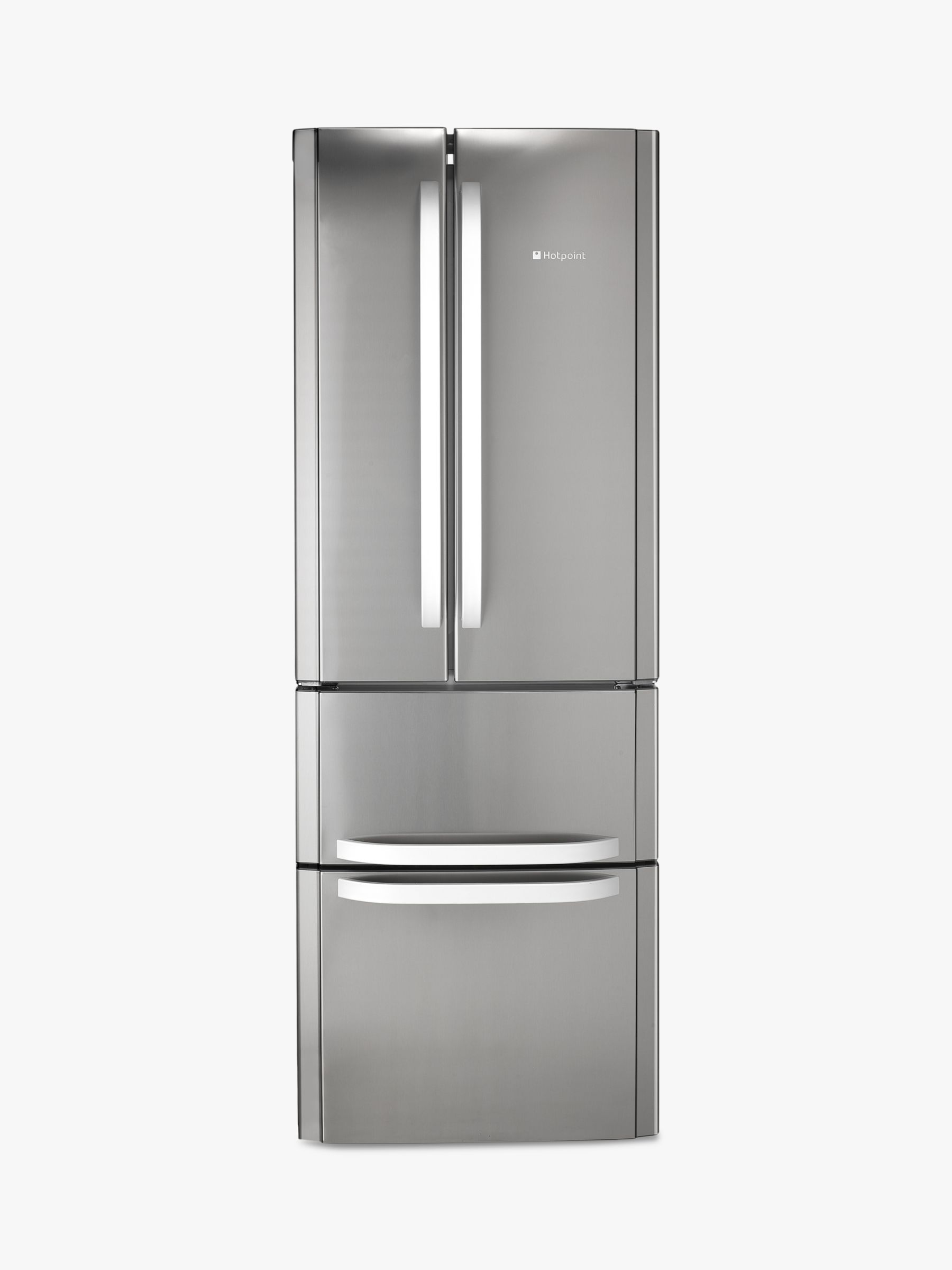 Hotpoint Hotpoint FFU4D.1 X American Style Freestanding Fridge Freezer, A+ Energy Rating, 70cm Wide, Stainless Steel