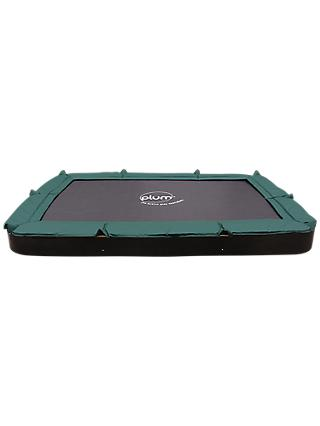 Plum 7 x 10ft In-Ground Trampoline, Green/Black