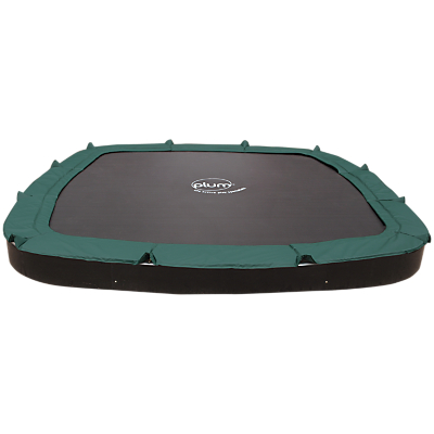 Plum 11ft In Ground Trampoline, Green/Black