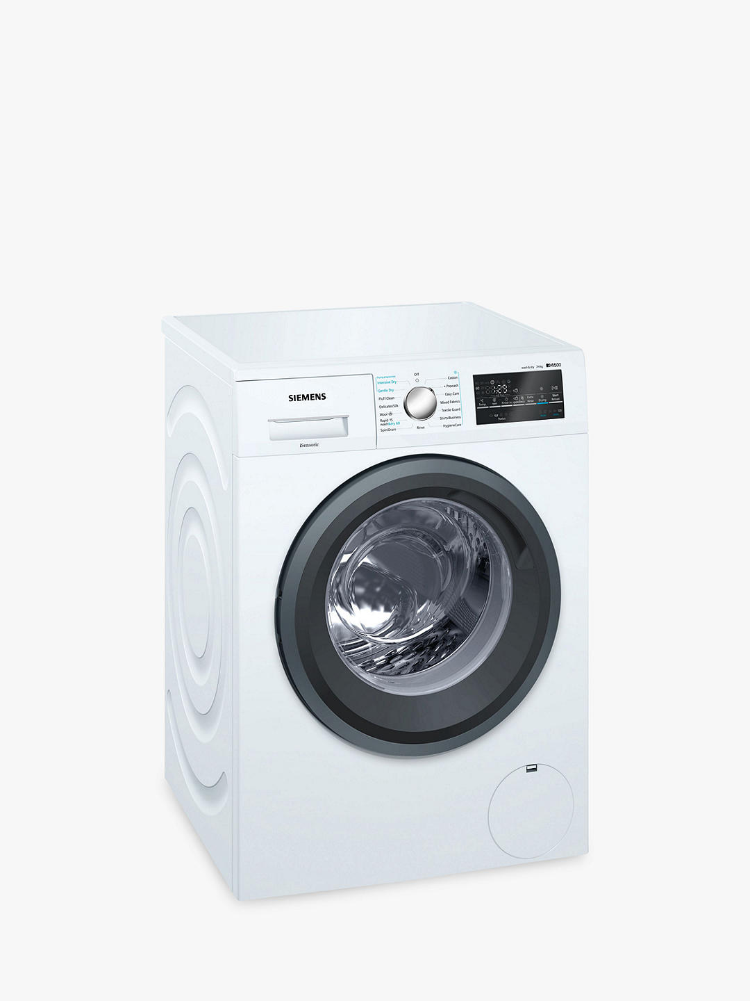 Buy Siemens WD15G422GB Washer Dryer, 7kg/4kg Wash, A Energy Rating, 1500rpm Spin, White Online at johnlewis.com