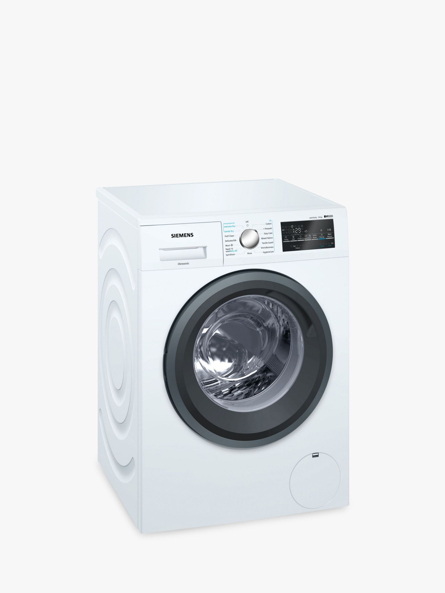 Siemens Siemens WD15G422GB Washer Dryer, 7kg/4kg Wash, A Energy Rating, 1500rpm Spin, White