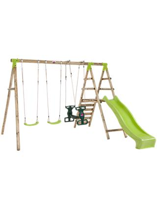 Plum Silverback Swing Set with Slide