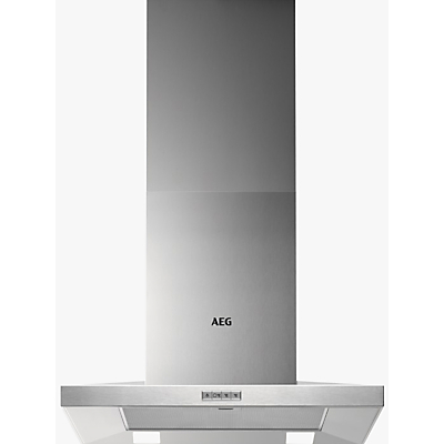 AEG DKB4650M Chimney Cooker Hood, Stainless Steel
