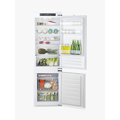 Hotpoint 7030ECAAO3 Integrated 70/30 Fridge Freezer, Sliding Door Hinge, A+ Energy Rating, 54cm Wide, White
