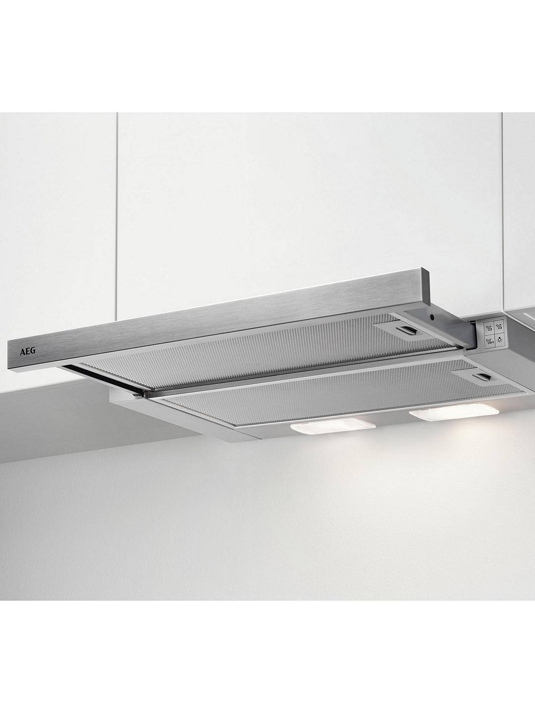Buy AEG DPB3631S Built-In Telescopic Cooker Hood, Stainless Steel Online at johnlewis.com