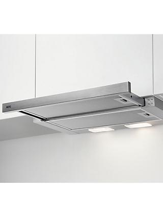 AEG DPB3631S Built-In Telescopic Cooker Hood, Stainless Steel
