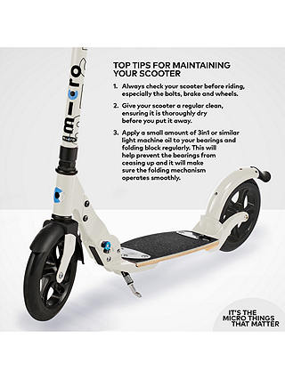 Buy Micro Scooters Flex Deluxe Adult Scooter, Cream Online at johnlewis.com