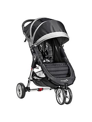 Baby Jogger City Mini 3 Wheel Single Pushchair, Black/Grey