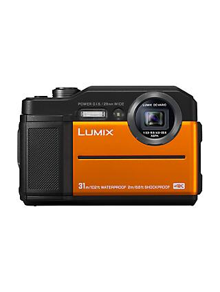 "Panasonic Lumix DC-FT7 Waterproof, Freezeproof, Shockproof, Dustproof Compact Digital Camera, 4K UHD, 20.4MP,  4.6x Optical Zoom, Wi-Fi, 3"" LCD Screen, Orange"