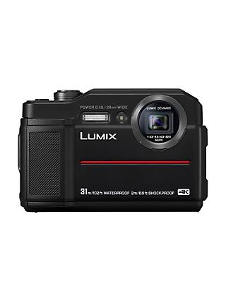 "Panasonic Lumix DC-FT7 Waterproof, Freezeproof, Shockproof, Dustproof Compact Digital Camera, 4K UHD, 20.4MP,  4.6x Optical Zoom, Wi-Fi, 3"" LCD Screen"