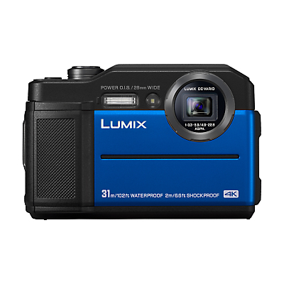 Panasonic Lumix DC-FT7 Waterproof, Freezeproof, Shockproof, Dustproof Compact Digital Camera, 4K UHD, 20.4MP, 4.6x Optical Zoom, Wi-Fi, 3 LCD Screen