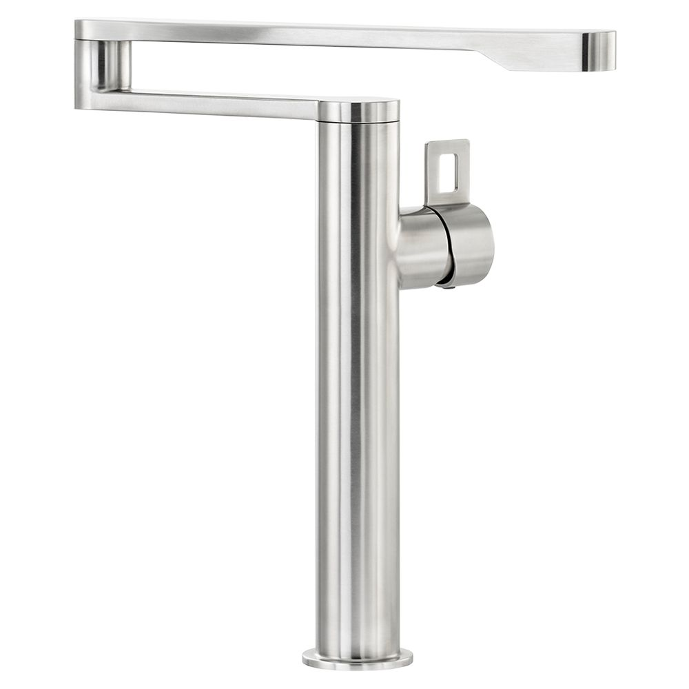 Abode Abode Axial Single Lever Pot Filler Monobloc Kitchen Tap, Stainless Steel