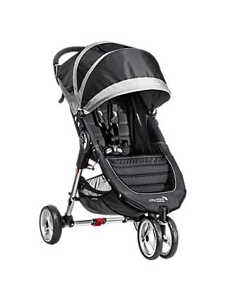Baby Jogger City Mini 3 Wheel Pushchair, Black/Grey