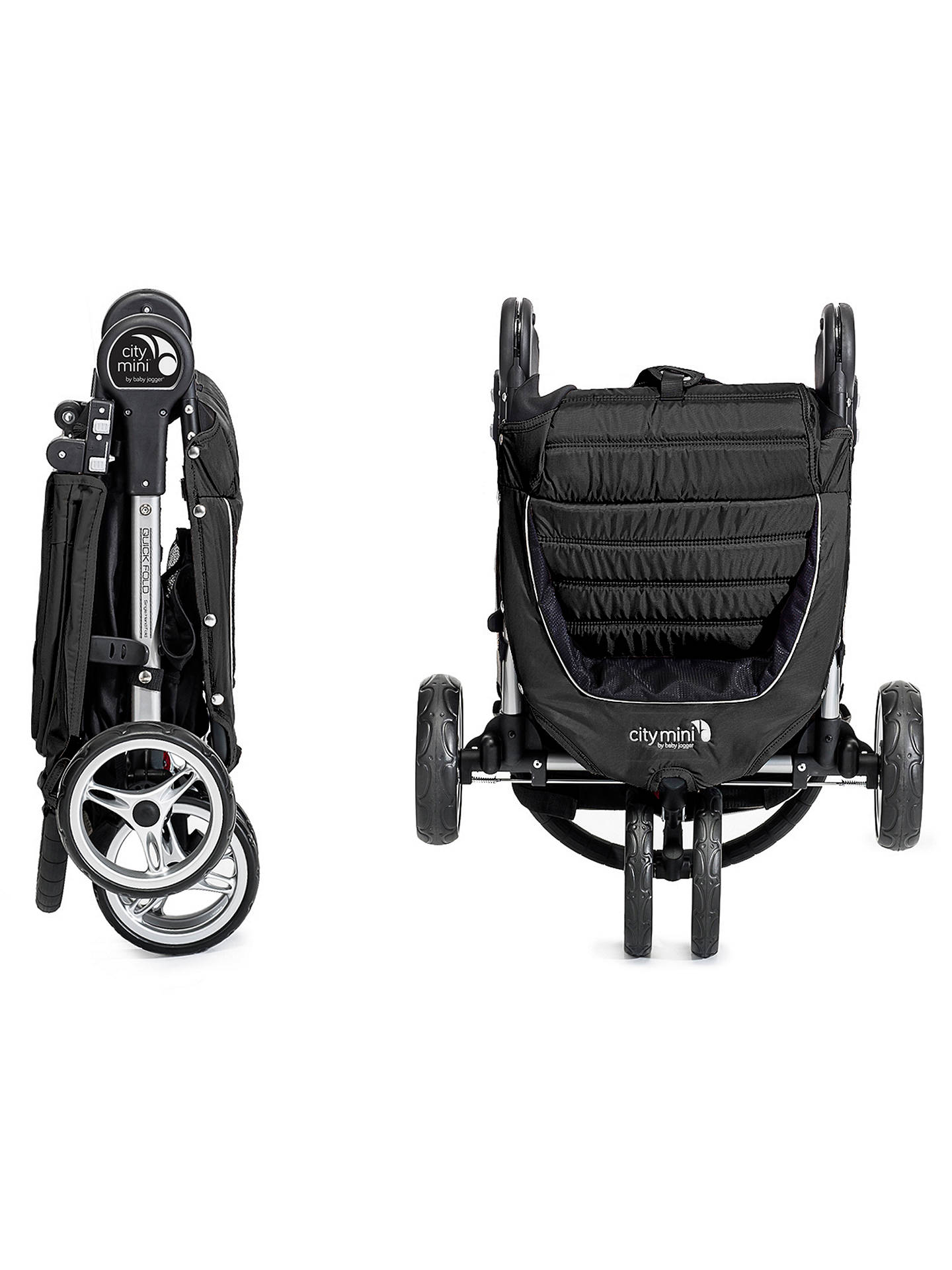 BuyBaby Jogger City Mini 3 Wheel Pushchair, Black/Grey Online at johnlewis.com