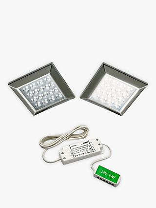 Sensio Ora Square Surface LED Lights and Kit, Pack of 2, Cool White