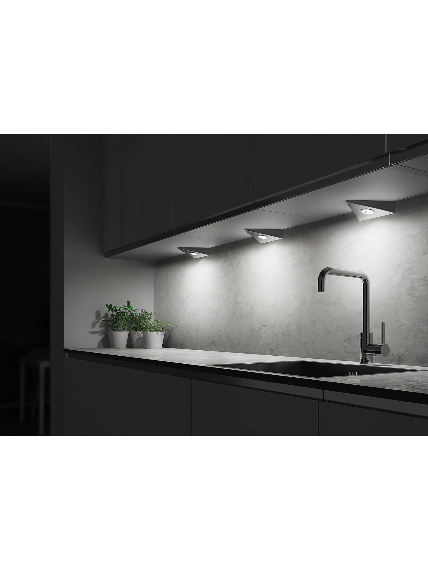 Sensio Bermuda Triotone Led Kitchen Lights Pack Of 2 Brushed Steel