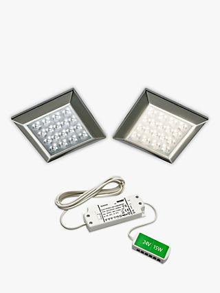 Sensio Ora Square Surface LED Lights and Kit, Pack of 2, Warm White