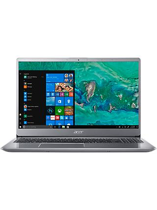 "Acer Swift 3 SF315-52G Laptop, Intel Core i7, 8GB RAM + 16GB Intel Optane, 1TB HDD, 15.6"", 4G/LTE/ACPC, Sparkly Silver"