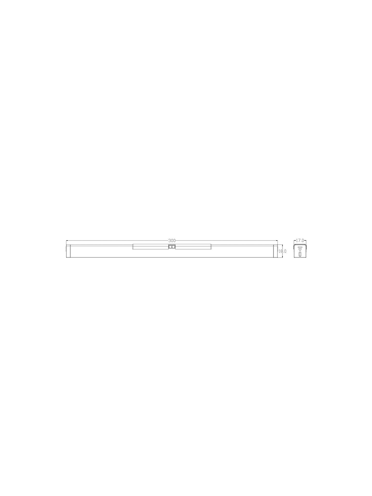 BuySensio Dura LED Battery Operated Kitchen Drawer Light, 30cm, Brushed Steel Online at johnlewis.com