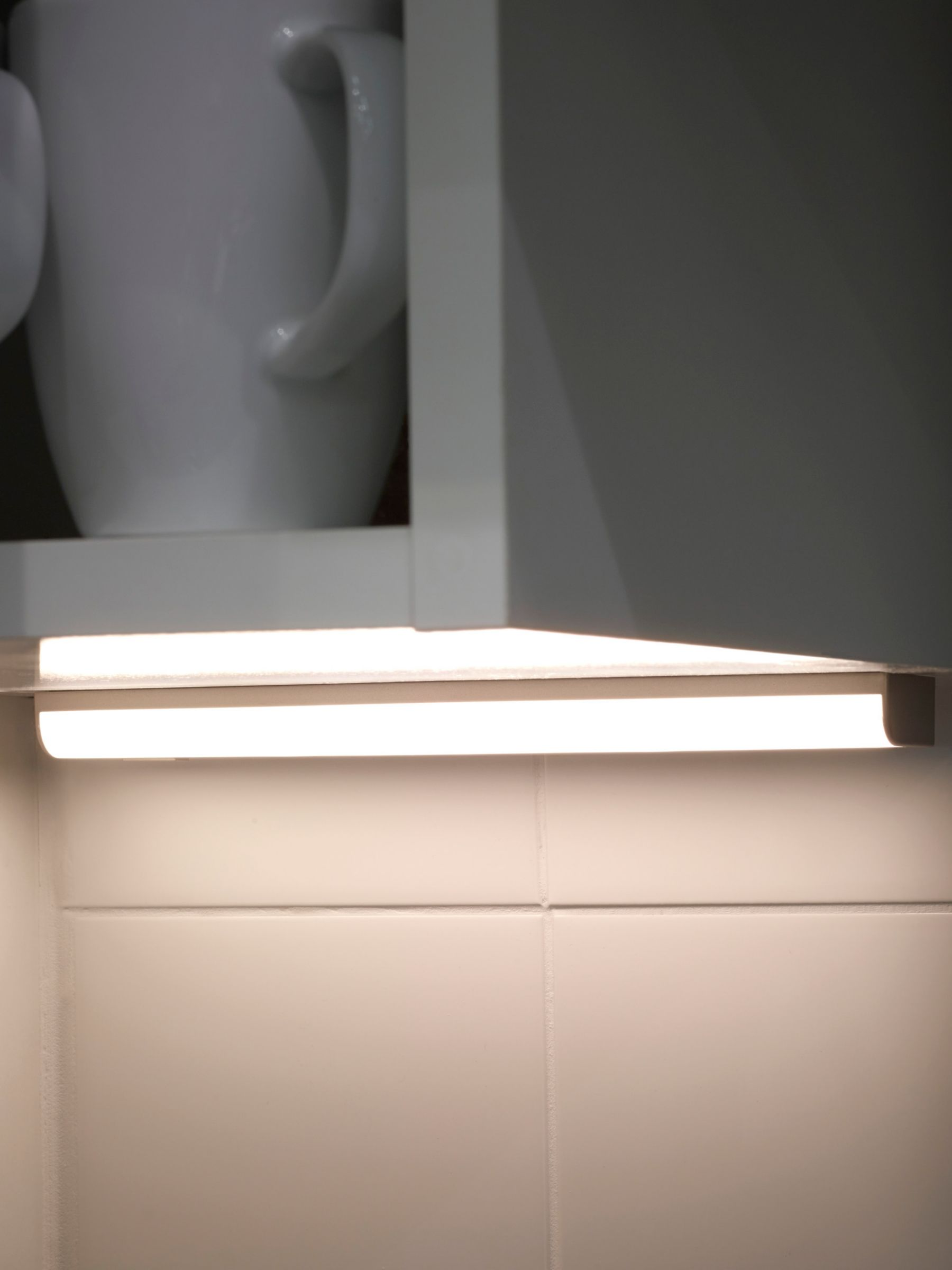 Sensio Opal Led Battery Operated Under Cabinet Strip Light 250mm Silver At John Lewis Partners