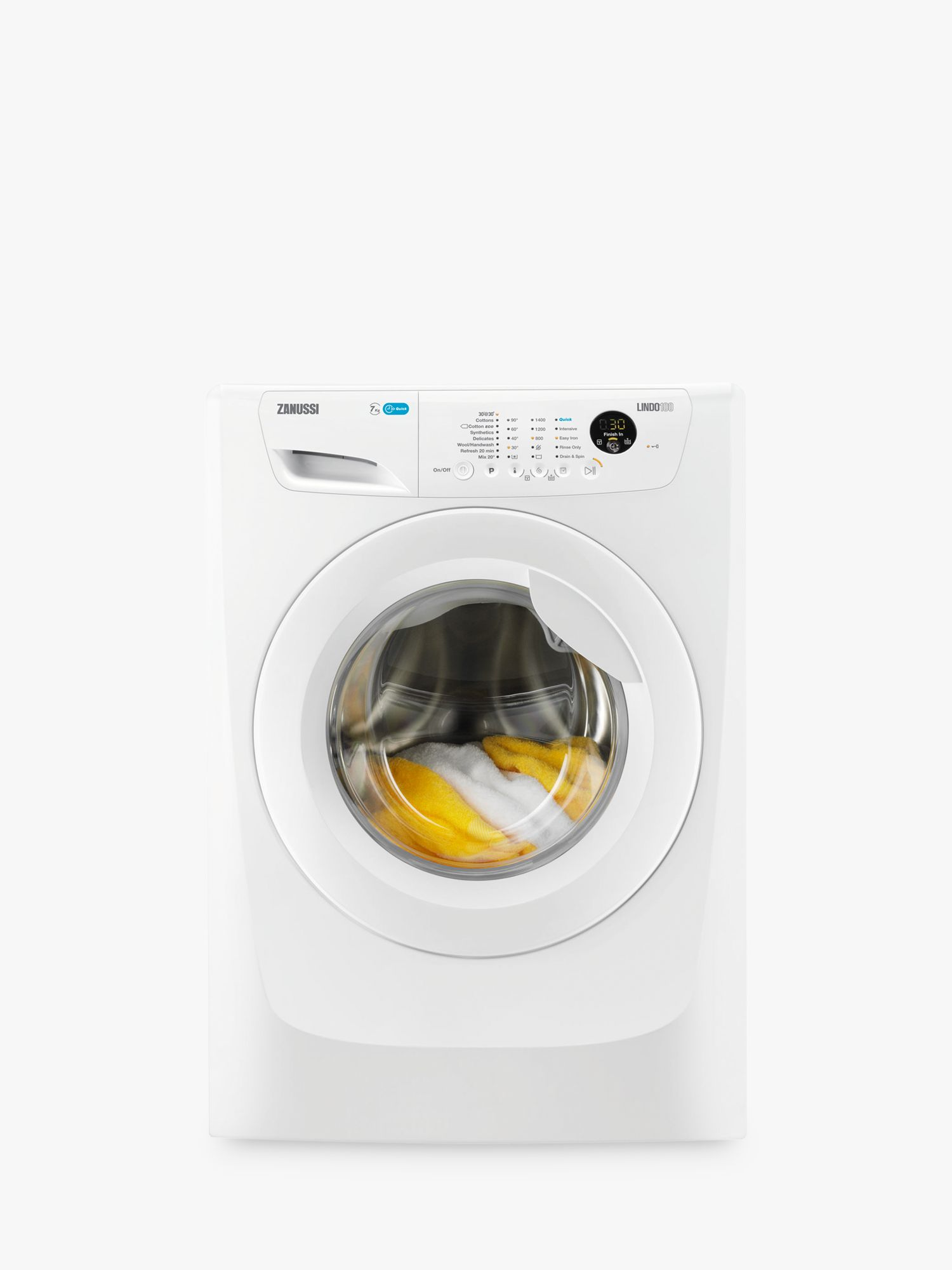 Zanussi Zanussi ZWF71463W Washing Machine, 7kg Load, A+++ Energy Rating, 1400rpm Spin, White