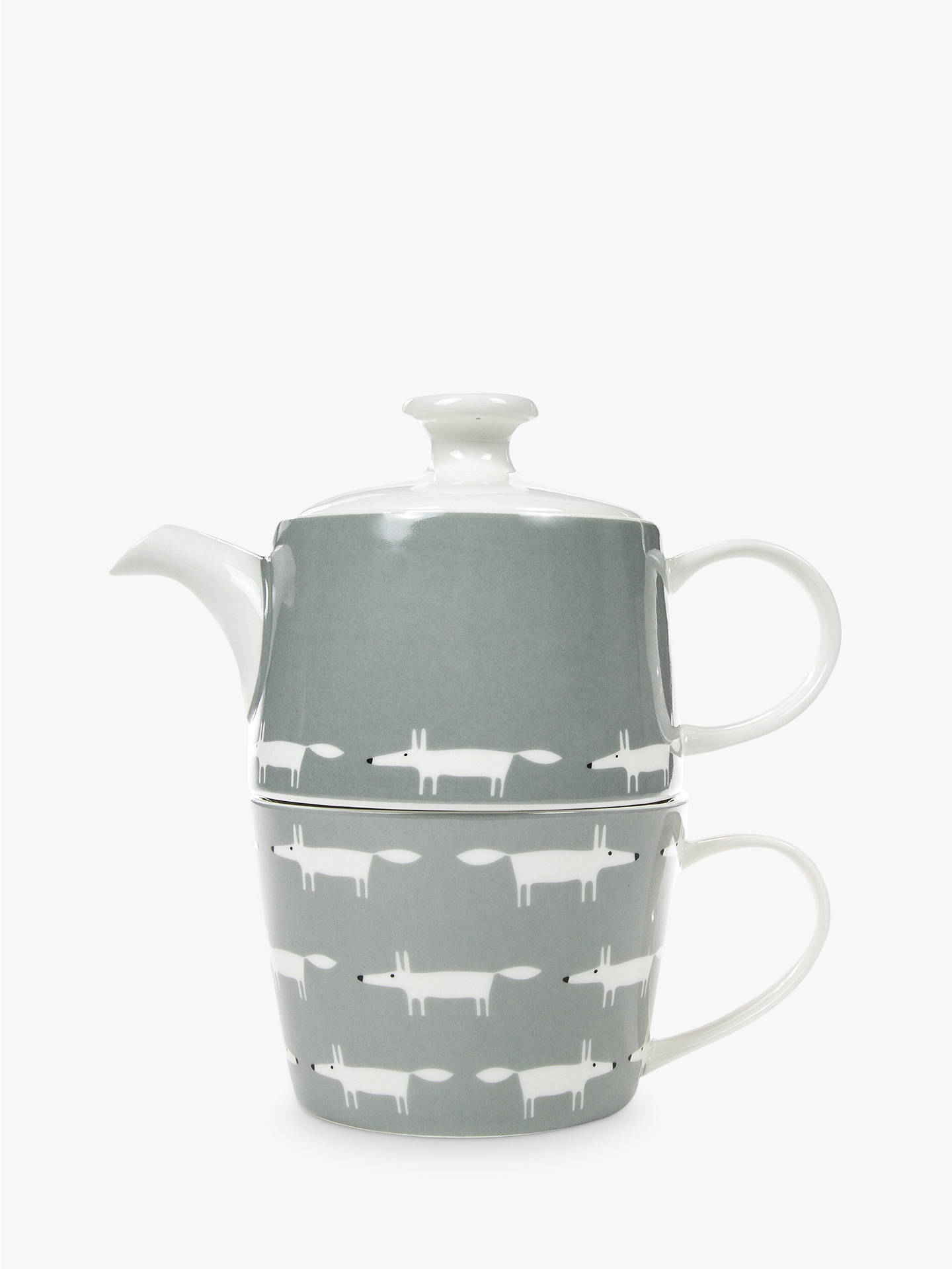 BuyScion Mr Fox Tea For One Teapot, 470ml, Grey Online at johnlewis.com