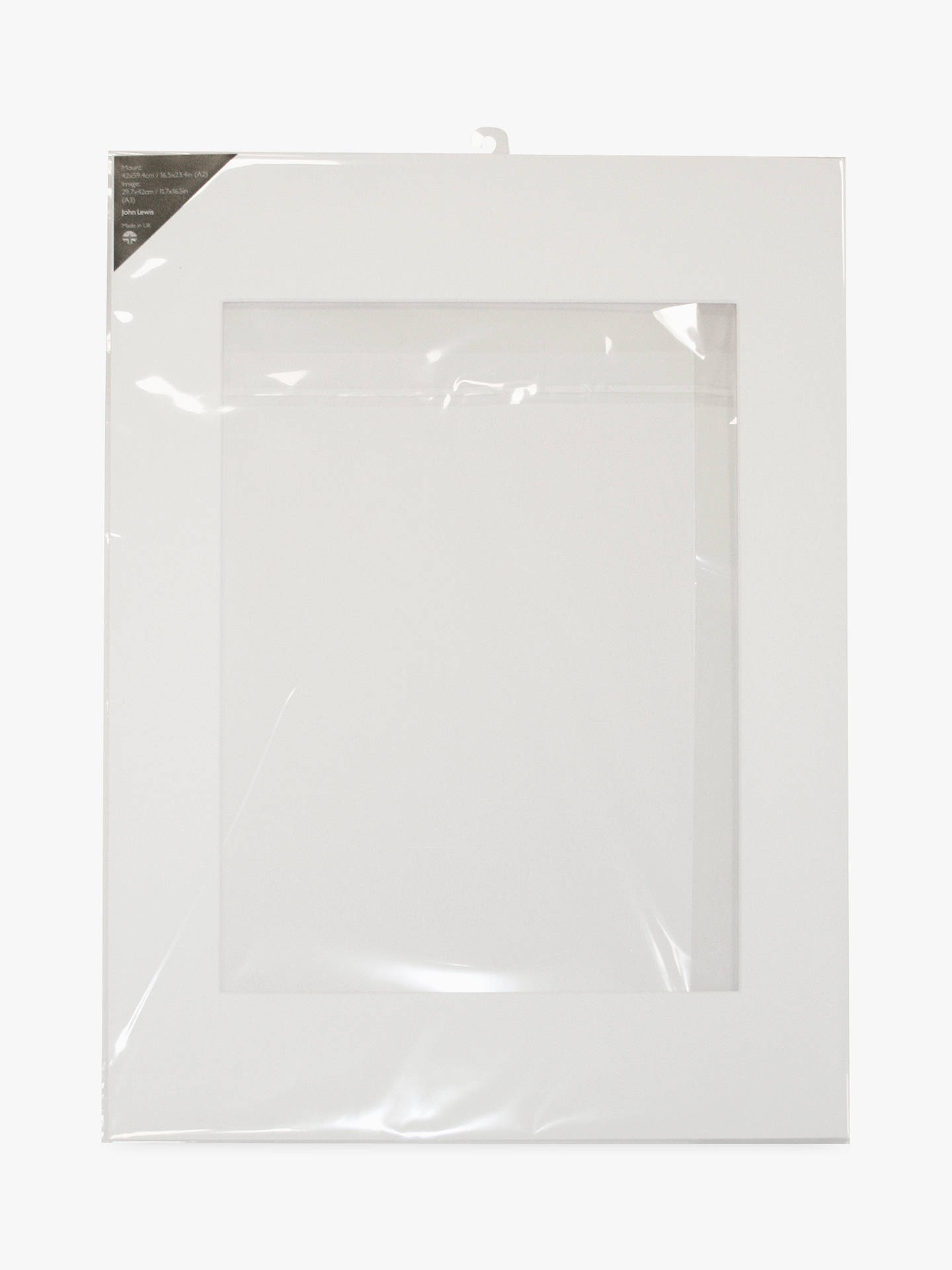 John Lewis & Partners Photo Mount A3 (30 x 42cm) Image for A2 Frame ...