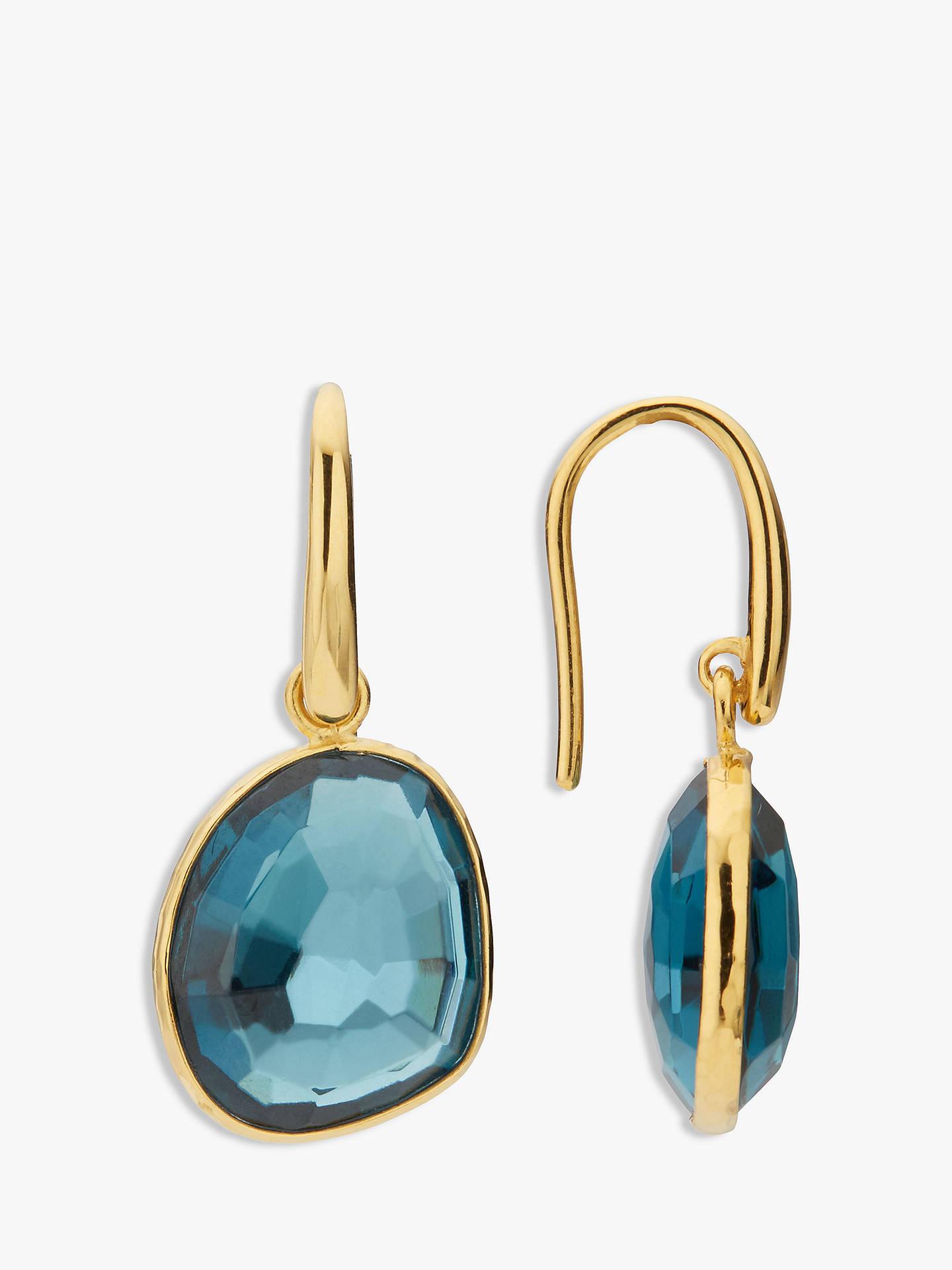 105099ca7aa3 Buy John Lewis & Partners Gemstones Simple Drop Hook Earrings, Blue Topaz  Online at johnlewis ...
