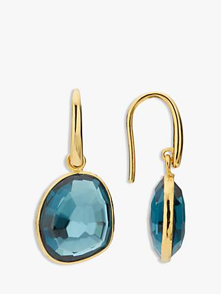 John Lewis & Partners Semi-Precious Stone Simple Drop Hook Earrings