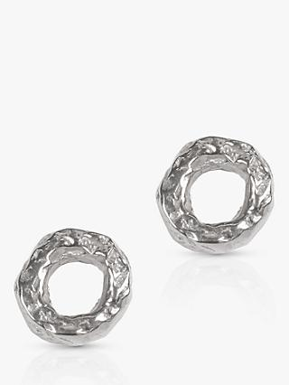 Matthew Calvin Meteorite Textured Round Stud Earrings