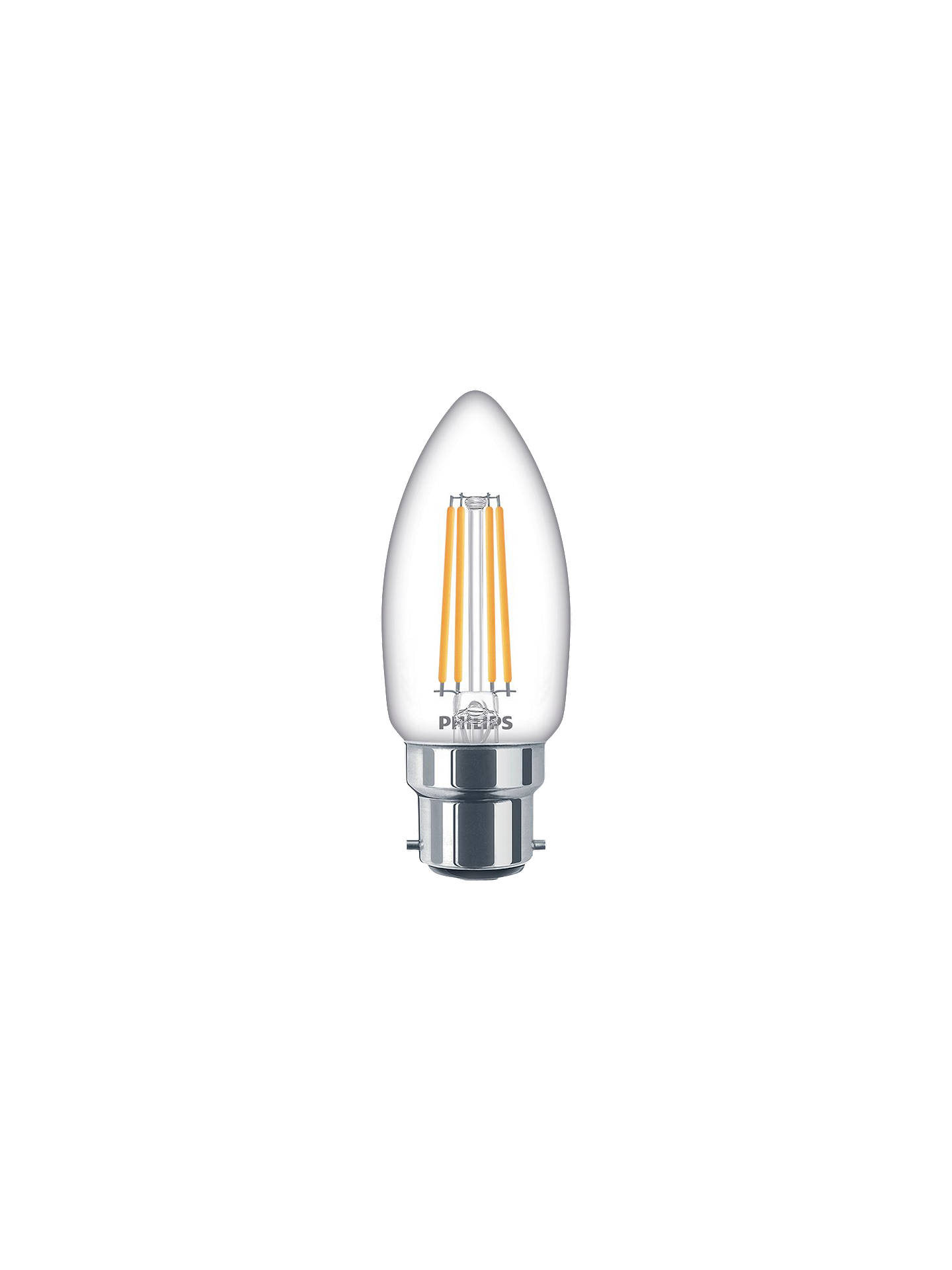 B22 BC Bayonet Cap Lamps 25x 40W Clear Candle Dimmable Filament Light Bulbs