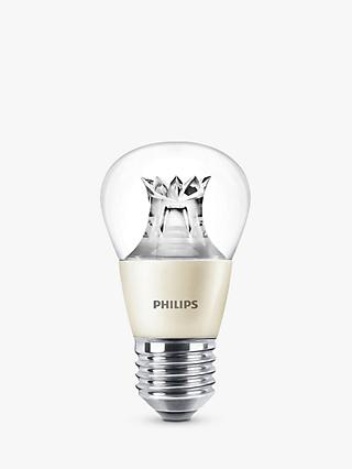 Philips 6W ES LED Dimmable Golf Ball Bulb, Clear