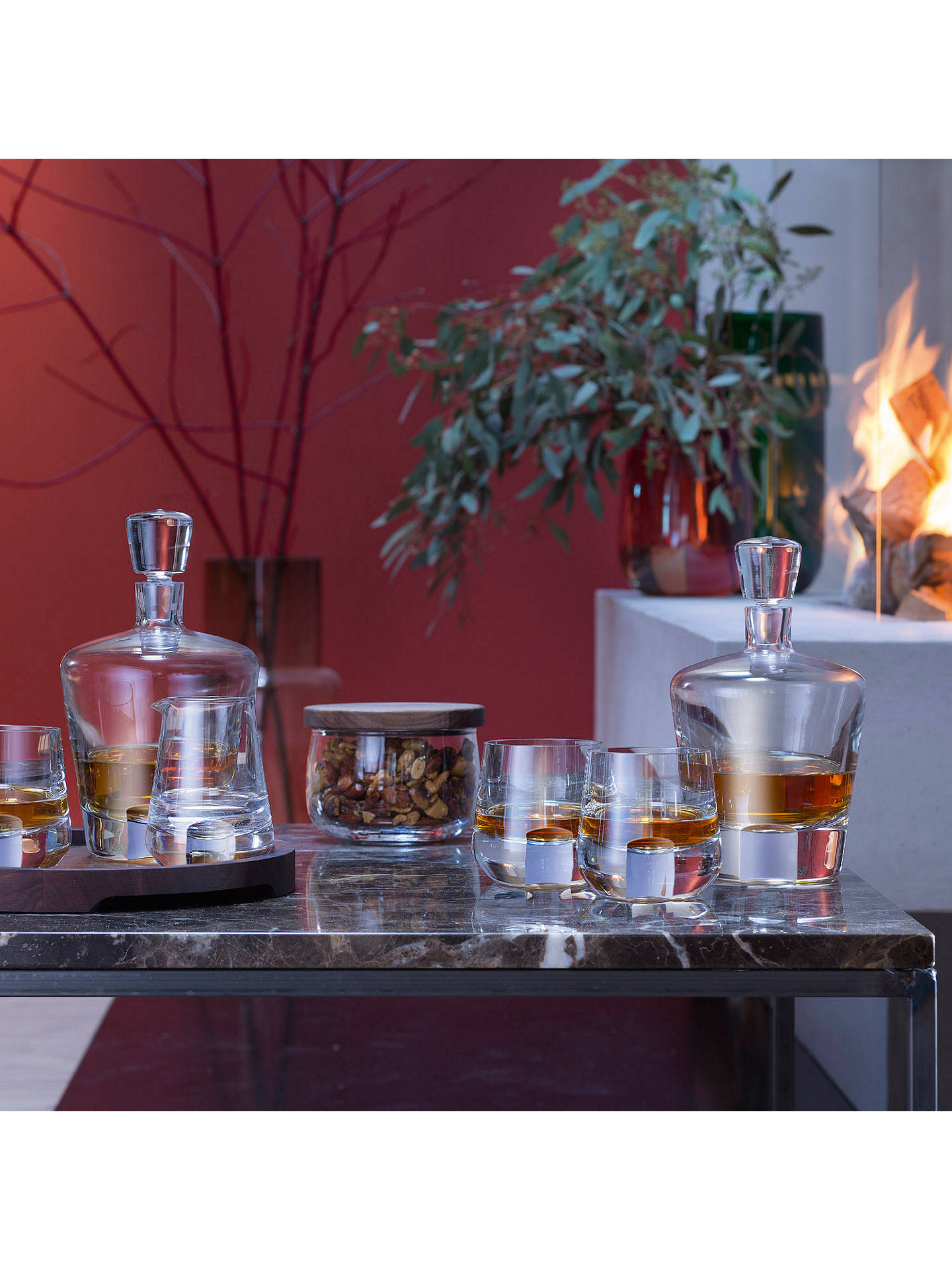 BuyLSA International Whisky Cut Glass Decanter with Tumblers and Tray Set, 5 Pieces Online at johnlewis.com